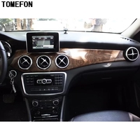 TOMEFON For Benz GLA 2015 2016 2017 Wood Paint Matte Style Front Middle Air Vent Console Left Hand Drive Cover Frame Trim|Chromium Styling|   -