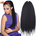 Natural Soft Long Hair Havana Mambo Twist Crochet Braids Box Braids For Black Women, Kanekalon Jumbo Braid Crochet Twist Hair