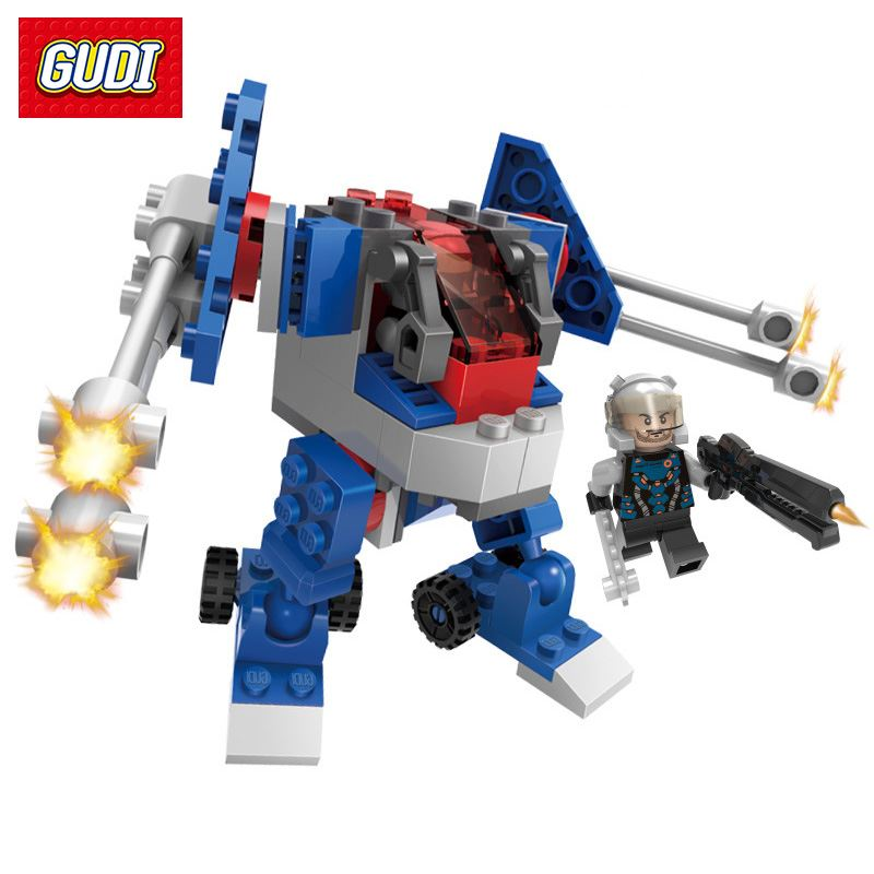 Fury Bombard Mecha Robot Model Building Blocks Toys Earth Border Series Gun Weapon DIY Bricks Gift For Children