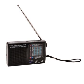 MAYITR KK-9 Portátil Full 9 Banda Rádio Mundial Banda Radio Receiver DSP Stereo FM/MW/SW Falante Embutido