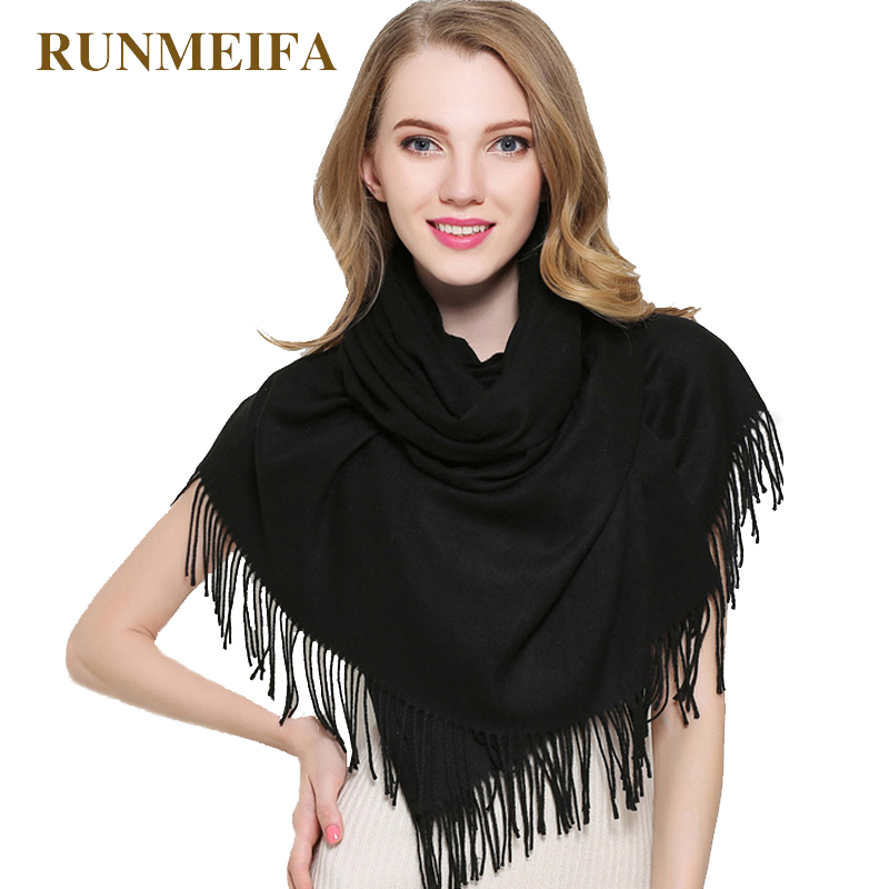 2018 brand women   scarf   fashion soild autumn winter cashmere   scarves   lady warmer pashmina long   scarf     wraps   bandana foulard female