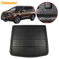 Buildreamen2 For Ford Edge Endura Car Tail Trunk Mat Floor Tray Boot Liner Carpet Cargo Mud Protector Pad 2015 2016 2017 2018