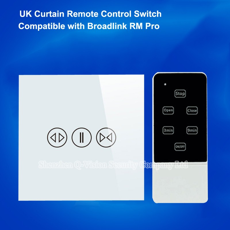 UK-Standard-Remote-Control-Touch-Switch-Crystal-Glass-Panel-Wall-Curtain-Switch-Wireless-RF433MH-Control-By