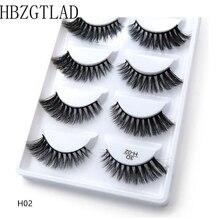 250 คู่/50 กล่อง 100% Real Mink ขนตาปลอม 3D ธรรมชาติขนตาปลอม 3D Mink Lashes Soft Eyelash EXTENSION แต่งหน้าชุด Cilios