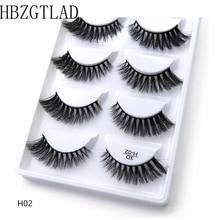 250 paires/50 boîte 100% vrai vison faux cils 3D naturel faux cils 3d vison cils doux Extension de cils Kit de maquillage Cilios