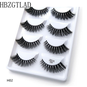 Image 1 - 250 pairs/50box 100% Real Mink Fake Eyelashes 3D Natural False Eyelashes 3d Mink Lashes Soft Eyelash Extension Makeup Kit Cilios