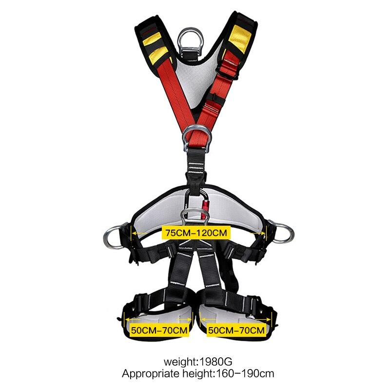 XINDA harnais d'escalade professionnel ceinture de sécurité complète Anti-chute équipement de protection d'altitude - 5