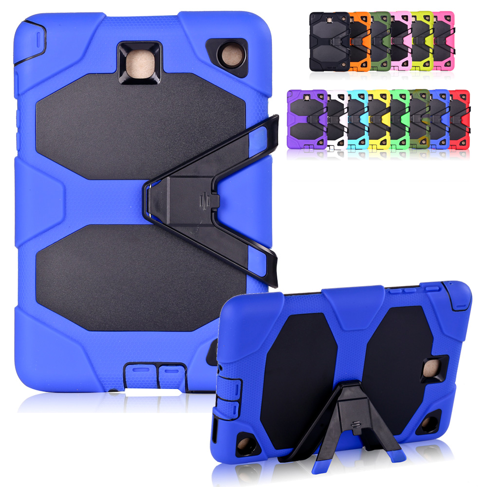 New Case for Samsung Galaxy Tab A 9.7 SM-T555 SM-T550 Heavy Duty Impact Hybrid Stand PC Rugged Cover for Samsung Tab A9.7 Case аксессуар чехол samsung galaxy tab a 7 sm t285 sm t280 it baggage мультистенд black itssgta74 1