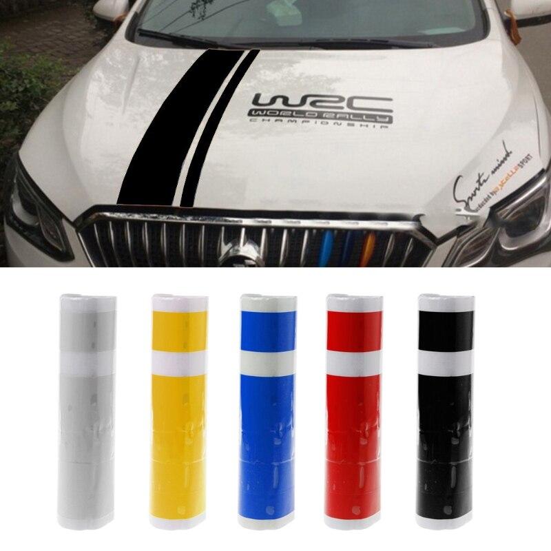 Etiqueta engomada del coche de la cabeza de la calcoman/ía de los deportes del par de la raya de WRC del par WRC Etiqueta engomada del coche de la cabeza para Ford Focus VW Cruze Renault