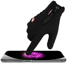 Men's Classic Black Winter Gloves & Mittens Driving Touch Sc