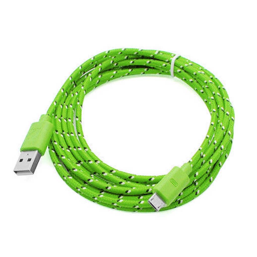 3m المصغّر USB القنب حبل كابل يو إس بي كابل بيانات لسامسونج ل Xiaomi اللوحي الروبوت USB كابل شحن المصغّر USB كابل الشاحن