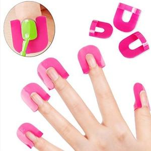 Image 1 - 26 Pcs Reusable Nails Edge Skin Barrier Nail Polish Stencils Kit Manicure Nail Art Polish Tip Protectors Nail Care Beauty Tool