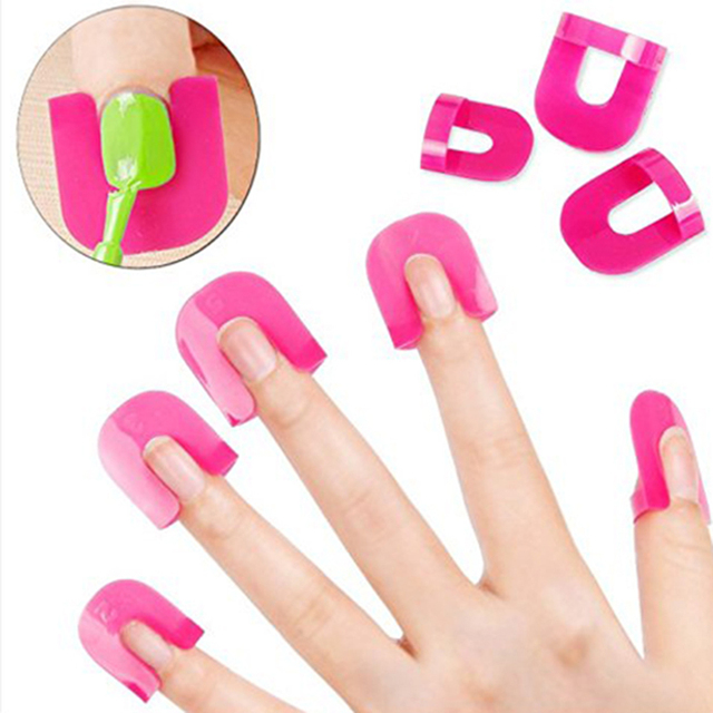 26 Pcs Reusable Nails Edge Skin Barrier Nail Polish Stencils Kit Manicure Nail Art Polish Tip Protectors Nail Care Beauty Tool
