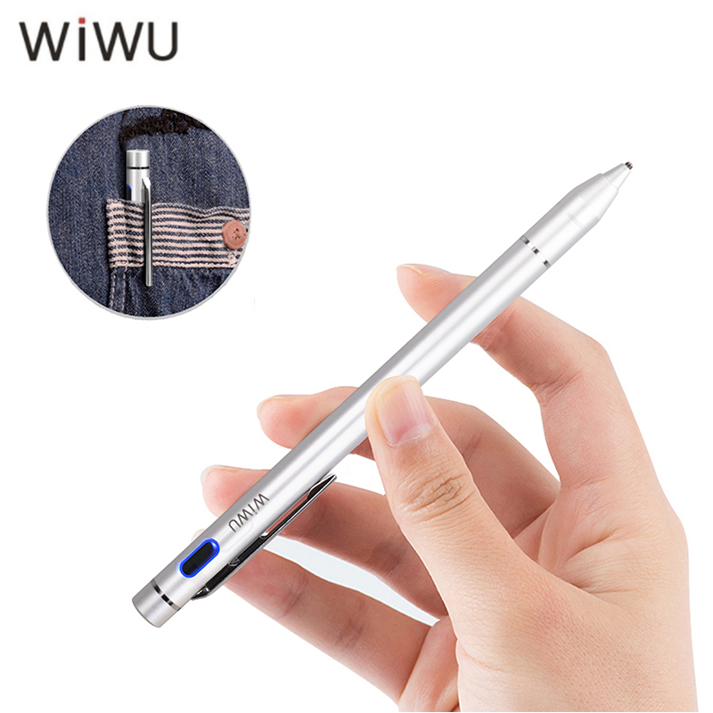 WIWU New Active Stylus Pen Universal Screen Pen Tablet Capacitive Touch Screen Pen Stylus with USB Charging for ipad/iphone/Sums scalable capacitive touch screen stylus pen for iphone ipad ipod touch silver