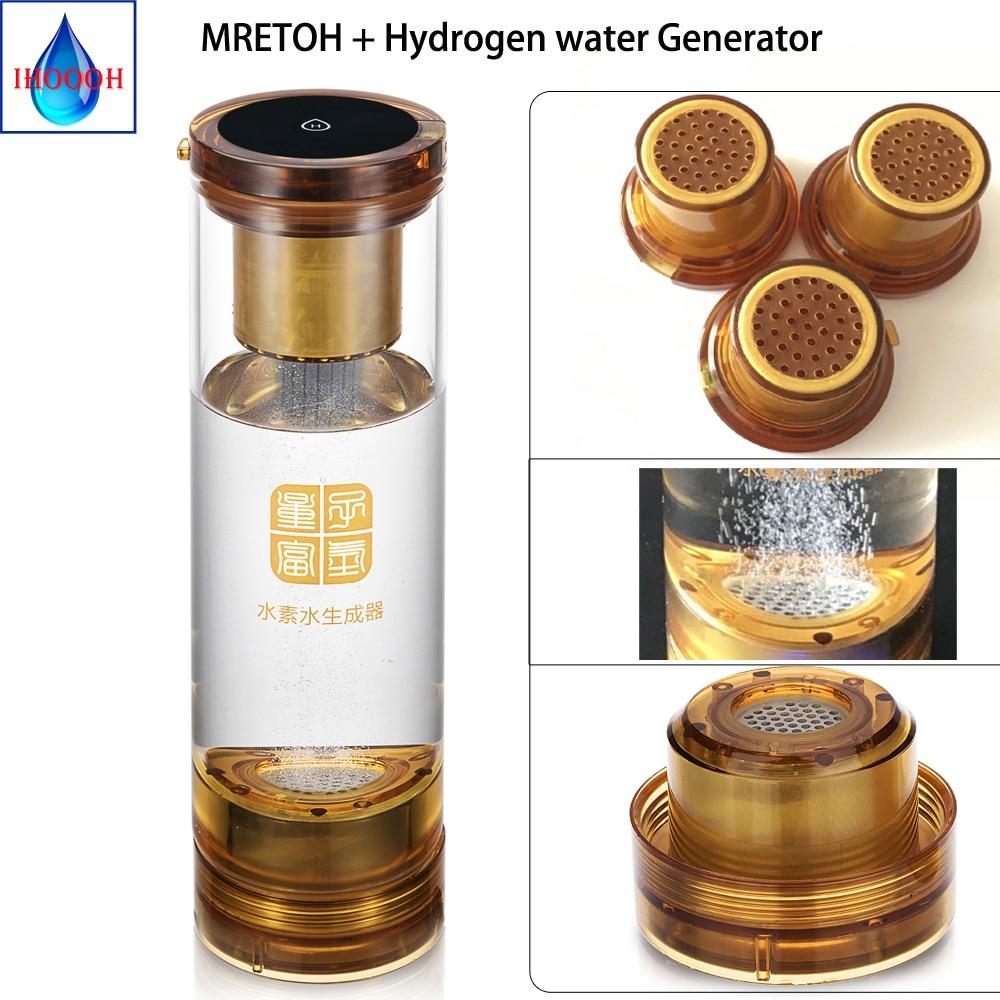 Mretoh 7.8 hz terra freqüência molecular ressonância gerador de hidrogênio copo água usb recarregável eletrólise ionizador gerador