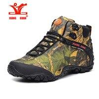 XiangGuan brand men and women outdoor Hiking shoes waterproof canvas sport trekking boots Anti-skid Wear Mountain Climbing Shoes