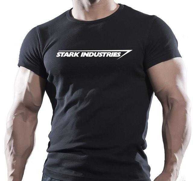 59205515cbcc NEW - STARK INDUSTRIES T-SHIRT SCHWARZ New Fashion Cool Casual T Shirts Pre-Cotton  Tee Shirt For Men T-Shirt O-Neck Men