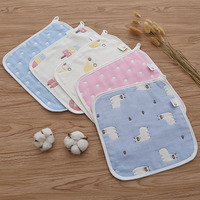 100 Cotton High Quality Super Comfortable Breathable Cute Animal Design 25 25cm Square Baby Bib And