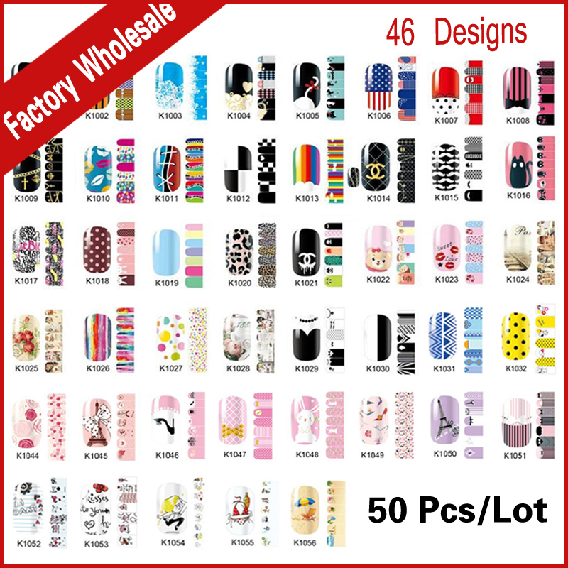 Nail Foils Patch,50sheets/lot Mix Fashion Designs Adhesive Nail Decals Full Wraps,Beauty Manicure Tools Nail Sticker Decorations rocooart k2 water transfer nail art sticker chinese ink rose flowers christmas nail wraps sticker manicure decor decals foils