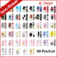 Nail Foils Patch 50sheets Lot Mix Fashion Designs Adhesive Nail Decals Full Wraps Beauty Manicure Tools
