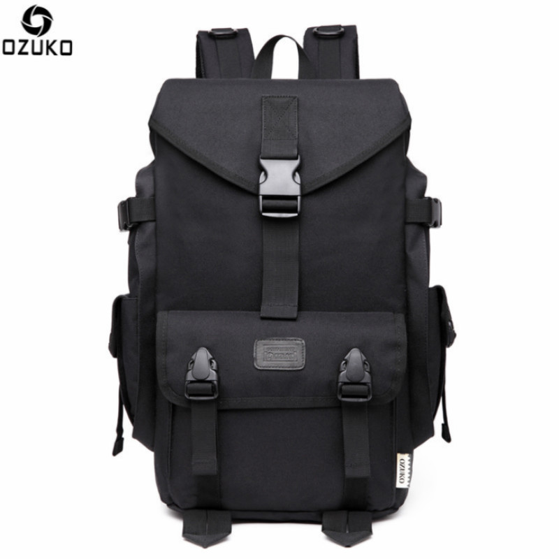 OZUKO Classical Camouflage Black Travel Backpack Oxford Computer Laptop Notebook Backpack Bags for Men Women Student 2018 14 15 15 6 inch flax linen laptop notebook backpack bags case school backpack for travel shopping climbing men women