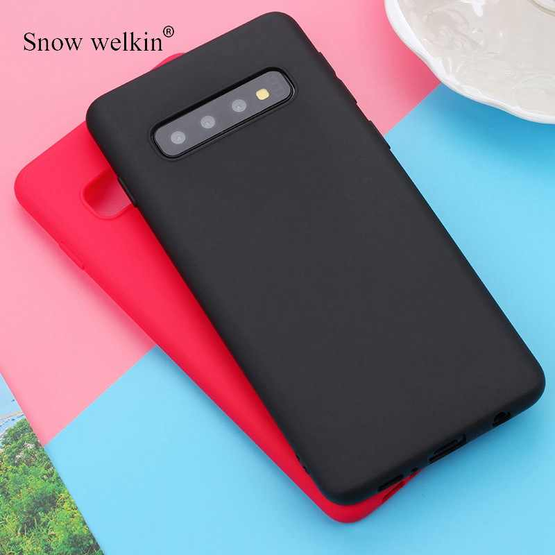 Matte Candy TPU Case For Samsung Galaxy S10 S10E S8 S9 Plus Note 9 8 5 A7 2018 M10 M20 A10 S7 edge J3 J5 2016 2017 J4+ J6 EU A6