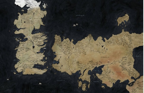 Game Of Thrones Song Of Ice And Fire Super Map Us Tv Vintage Retro Poster Decorative Diy Wall Stickers Home Posters Art Decor