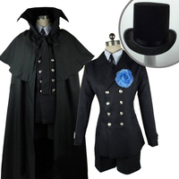 Black Butler Kuroshitsuji Ciel Phantomhive Cosplay Costume Black Funeral Cosplay Costumes