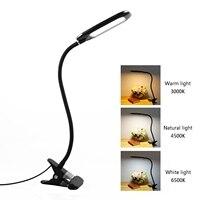 LED Desk lamp usb 3 Level Dimmable led Table Lamp Study Reading light for bedroom Night Light book light