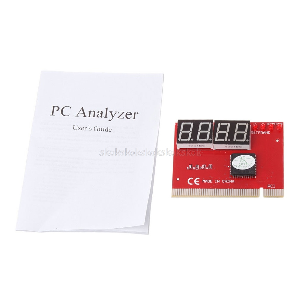 Computer PCI POST Card Motherboard LED 4-Digit Diagnostic Test PC Analyzer #H029#