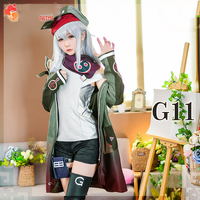 Anime! 2018 New Hot Game Girls Frontline G11 Battle Suit Uniform Cosplay Costume 404 Team Full Set Daily Clothes Free Shipping
