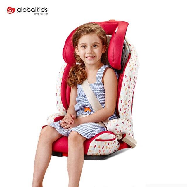 GLOBALKIDS Детское Сиденье Автомобиля Для 3-12 Летних Детей Isofix Безопасность Детей Сиденья Регулируемая Жгут Усилитель