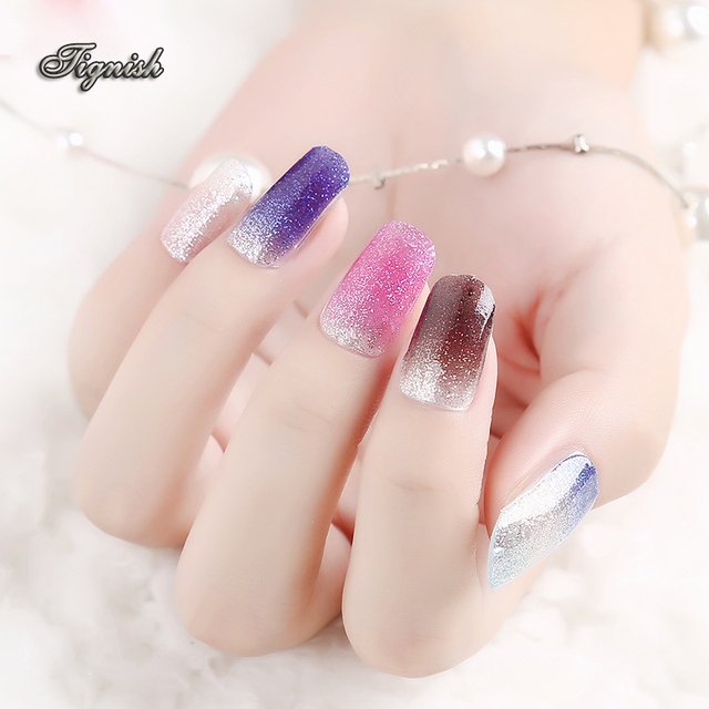 Aliexpress buy tignish 1pcs 3d nail art sticker decal tignish 1pcs 3d nail art sticker decal manicure tip glitter solid color nail art decoration tools prinsesfo Image collections