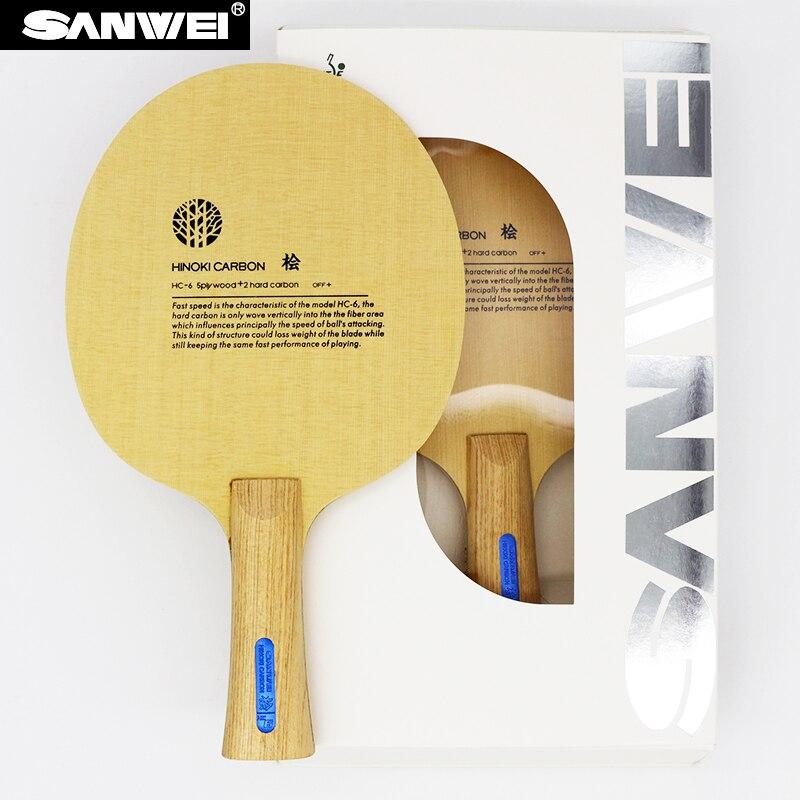 SANWEI  HC6S  Hinoki Carbon  Table Tennis Blade/ ping pong blade/ table tennis bat table