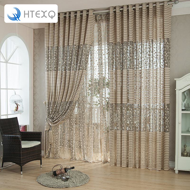 Design Decoration Curtain Free Shipping Window Transparent Voile Curtains Teratments Living Room In