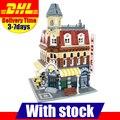 DHL Lepin 15002 2133Pcs Clone City Street Make Create Cafe Corner Model Building Kits Set Blocks Clone 10182