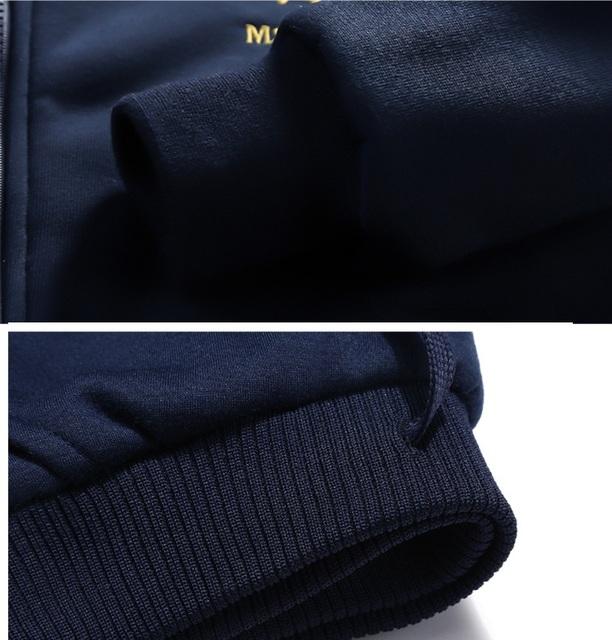 Grandwish Casual Mens Tracksuit Winter Two Piece Sets Fleece Thick Hooded Jacket + Pants Sporting Suit Male Trainingspak ,DA880