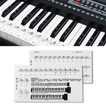 Key Note Paster Piano Keyboard Sticker Transparent Clear PVC 54/61/88 Musical Instrument