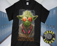 DJ Master Jedi Yoda Black Cotton Tee Shirt Star Wars Rave Funny Mashup Parody Youth Round Collar  free shipping