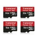 Transcend 16 ГБ 32 ГБ 64 ГБ 128 ГБ MicroSD MicroSDHC MicroSDXC Micro SD SDHC SDXC Карта 300X45 МБ/S class 10 UHS-1 TF Памяти карты