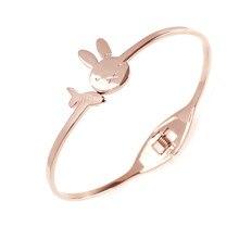 Fashion jewelry bracelet,Little rabbit radish bracelet, titanium steel bracelet,Ladies' accessories