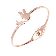 Fashion jewelry bracelet Little rabbit radish bracelet titanium steel bracelet Ladies accessories