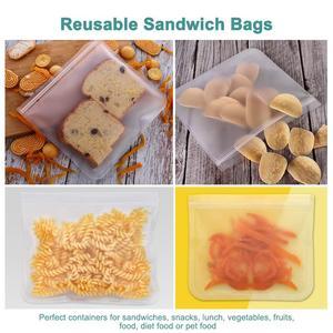 Image 5 - 5Pcs/lot EVA Freezing Bags Reusable Food Storage Bags Leakproof Ziplock Bags Resealable Sandwich Bag For Lunch Food Snack Makeup