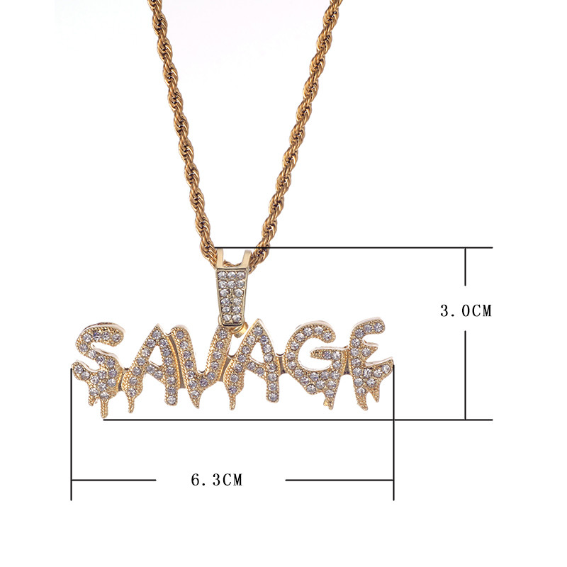 Savage Letter Necklace & Pendant 10
