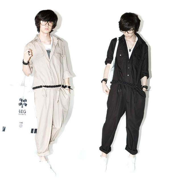 2018 New Stage One-piece Tooling Jumpsuit Japanese Men's Halon   Men Clothes 2018  Mens Clothing