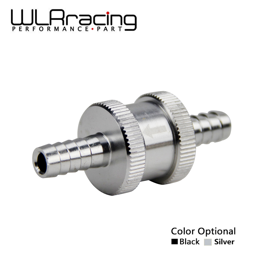 WLR RACING - 5/16 8mm Non Return One Way Fuel Check Valve Aluminium Alloy Petrol Diesel WLR-FCV08