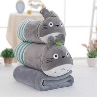 11 Styles Cute Animal Plush Toy with Blanket Totoro Doraemon Kumamon Soft Baby Sleeping Pillow Stuffed Doll Kids Birthday Gift