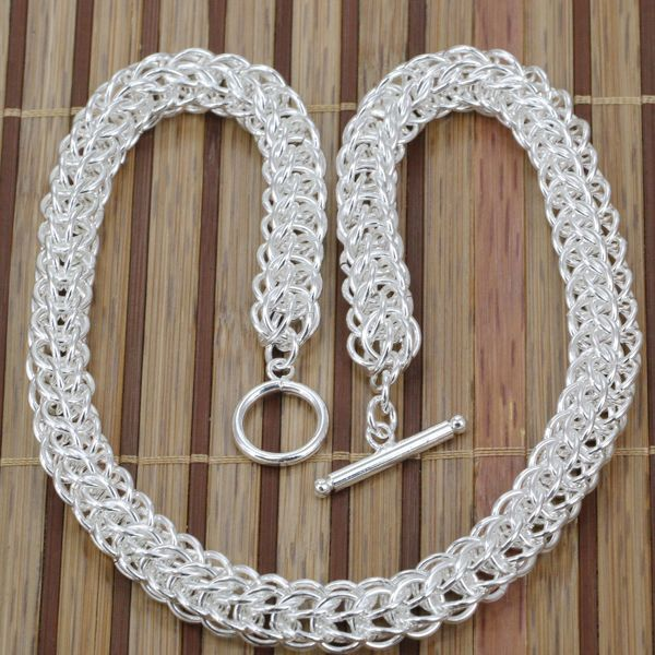 N139 fashion jewelry silver necklace 925 silver chains pendants full n139 fashion jewelry silver necklace 925 silver chains pendants full circle to 18inch jzja sqsa in chain necklaces from jewelry accessories on aloadofball Image collections