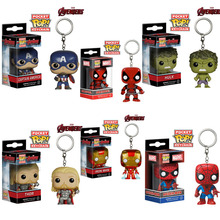 Funko Pop Spiderman Action & Toy Figures Cute Anime The Avengers Spiderman 4cm Keychain Pendant Action Figure Toy Christmas Gift