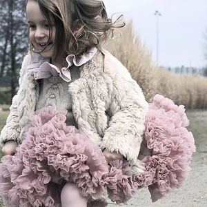 От 1 до 10 лет юбка-пачка для девочек балетная юбка-американка Многослойные пышные Детские балетные юбки для вечеринки, танцевальная мини-юбк...